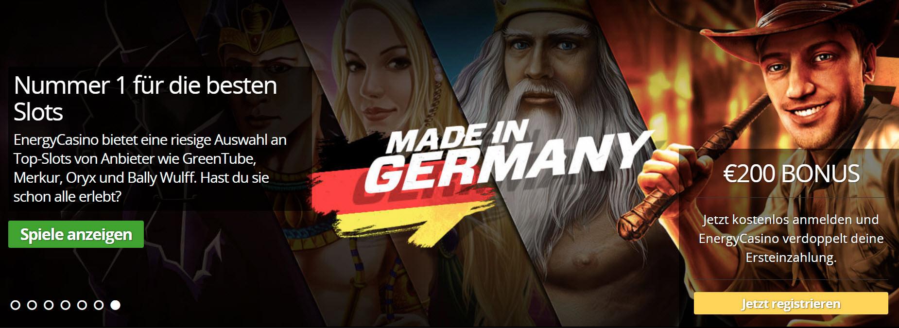 Made in germany ist ein Attribut für eine gute Stargames und Novoline Alternative